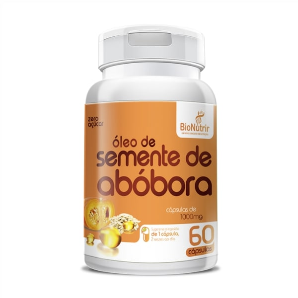 Óleo de Semente de Abóbora - 60 Cápsulas - Bionutrir