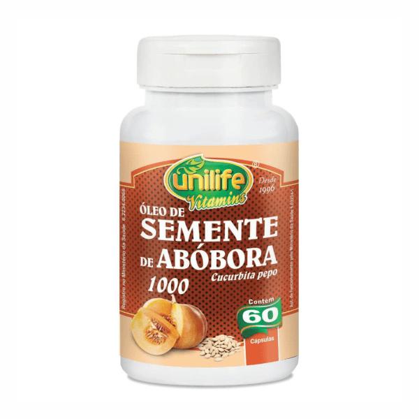 Óleo de Semente de Abóbora - 60 Cápsulas - Unilife