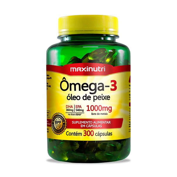 Ômega 3 - 300 Cápsulas - Maxinutri