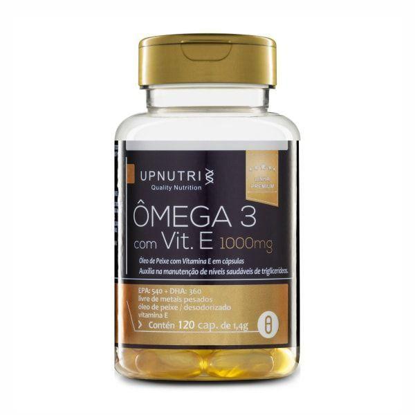 Ômega 3 com Vitamina E - 120 Cápsulas - UpNutri