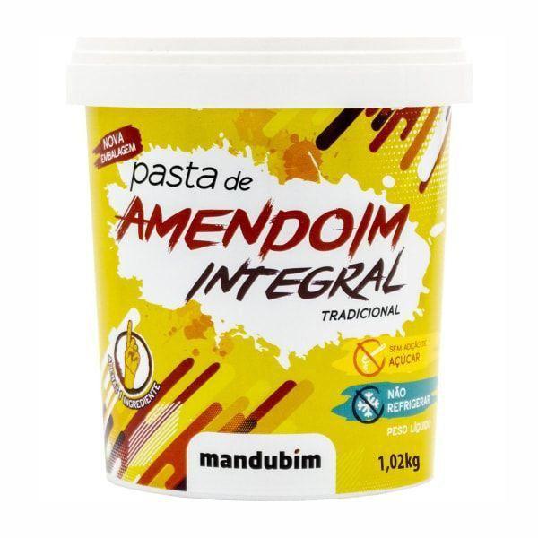 Pasta de Amendoim Integral - 1Kg - Mandubim