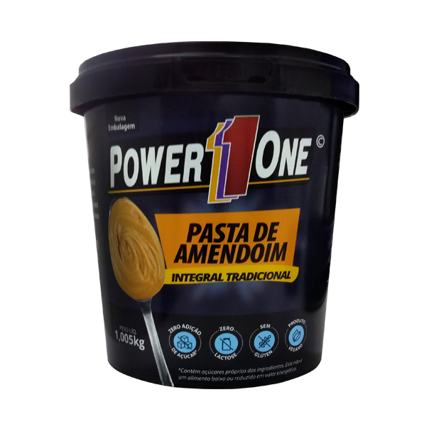 Pasta de Amendoim Integral Tradicional - 1,005Kg - Power 1 One