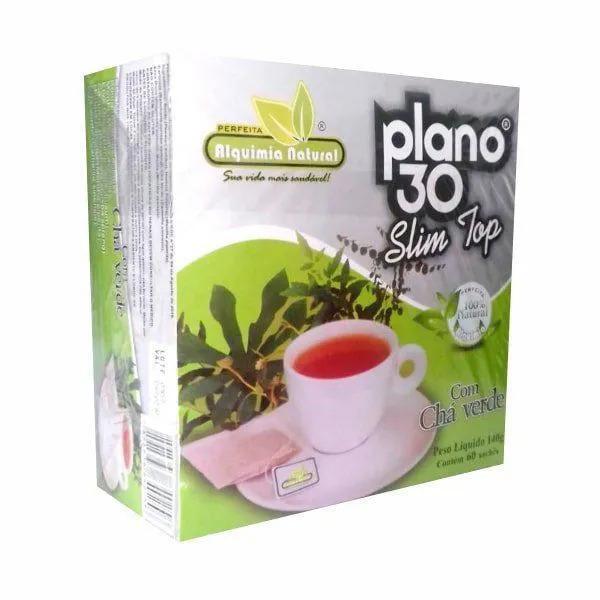 Plano 30 Slim Top - 60 Sachês - Alquimia Natural