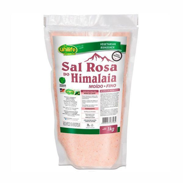 Sal Rosa do Himalaia Moído Fino - 1Kg - Unilife