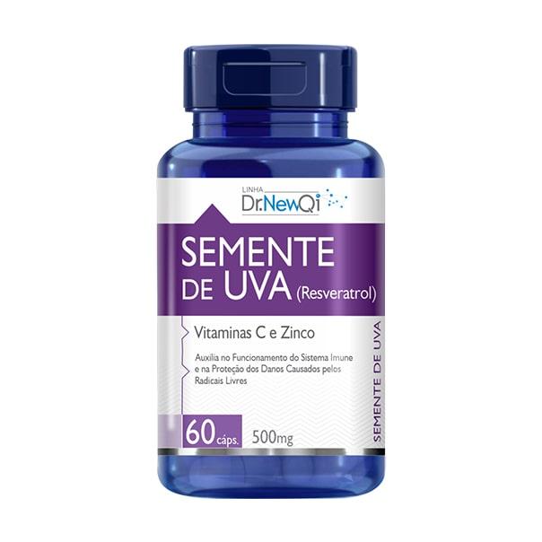 Semente de Uva (Resveratrol) c/ Vit. C e Zinco - 60 Cápsulas - Dr. New QI UpNutri