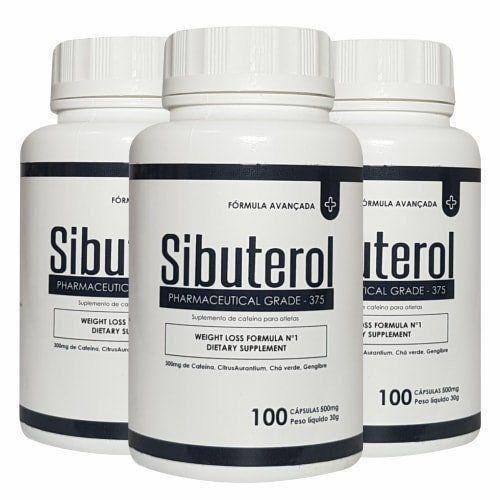 Sibuterol - 100 Cápsulas - Promoção 3 Unidades