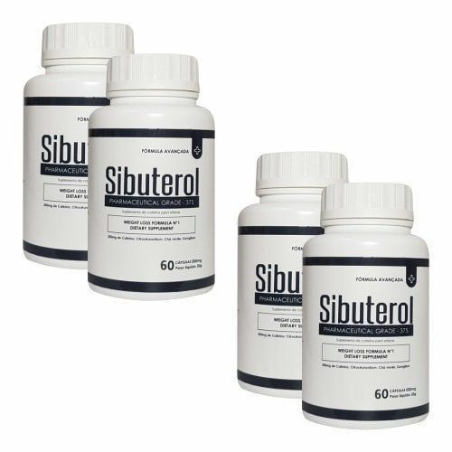 Sibuterol - 60 Cápsulas - Promoção 4 Unidades