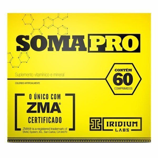 SomaPro ZMA - 60 Comprimidos - Promoção 3 Unidades - Iridium Labs