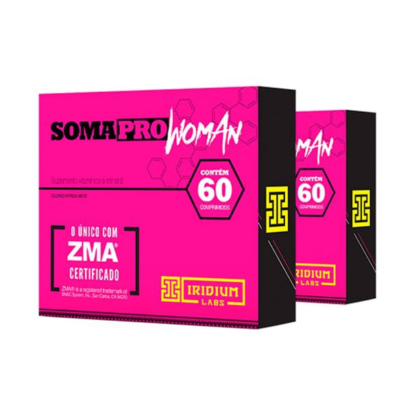 SomaPro Woman ZMA - 60 Comprimidos - Promoção 2 Unidades - Iridium Labs