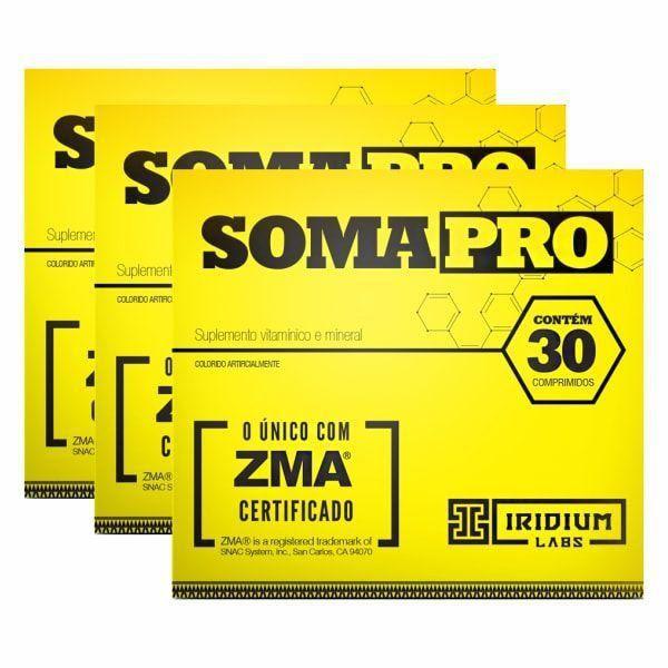SomaPro ZMA - 30 Comprimidos -  Promoção 3 Unidades - Iridium Labs