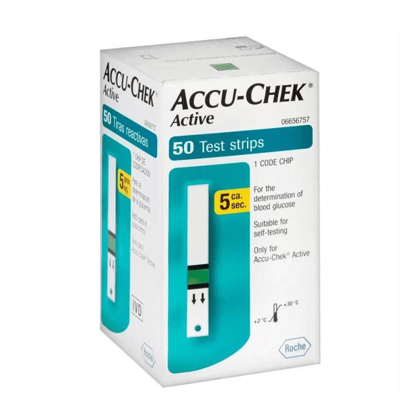 Tiras Accu-Chek Active - 50 Unidades - Roche