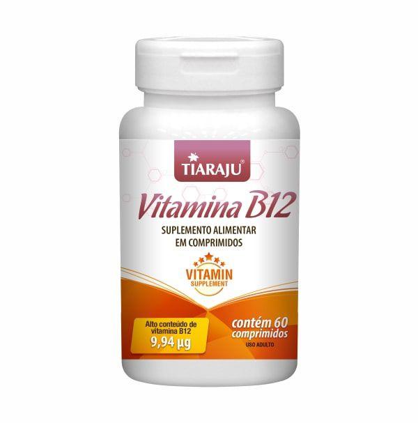 Vitamina B12 (Cianocobalamina) - 60 Comprimidos - Tiaraju
