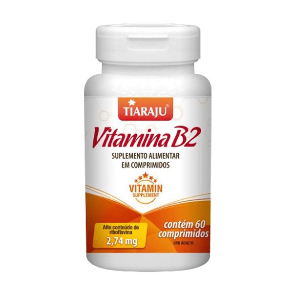Vitamina B2 (Riboflavina) - 60 Comprimidos - Tiaraju