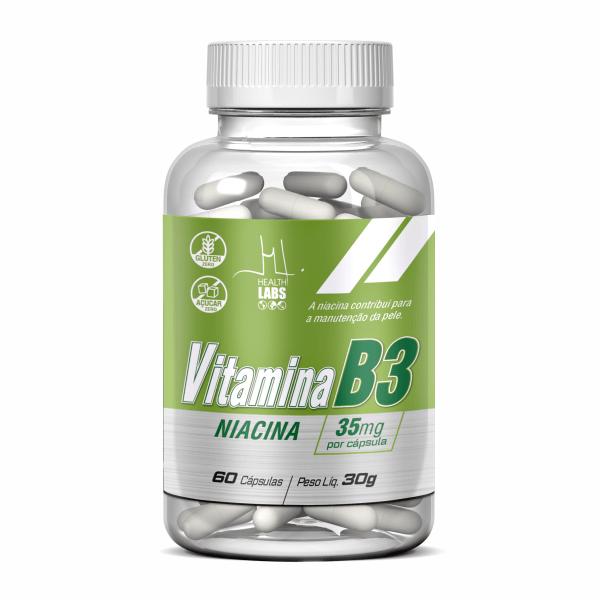 Vitamina B3 (Niacina) - 60 Cápsulas - Health Labs