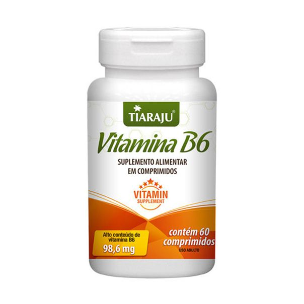 Vitamina B6 (Piroxidina) - 60 Comprimidos - Tiaraju