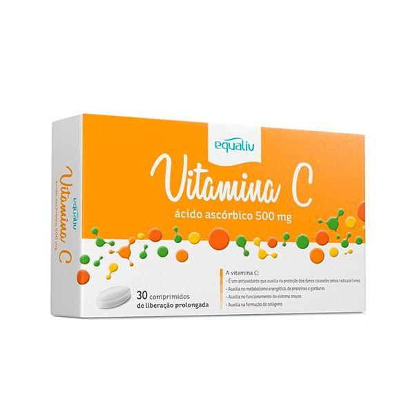 Vitamina C (Ácido Ascórbico) - 30 Comprimidos - Equaliv
