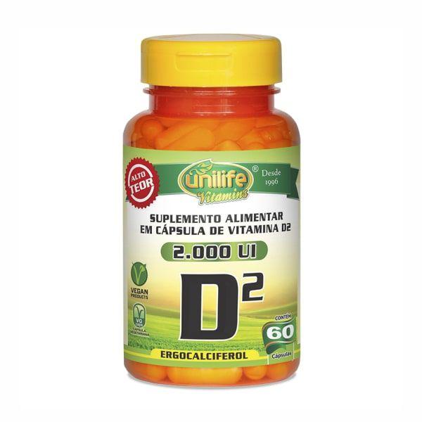 Vitamina D2 - 60 Cápsulas - Unilife