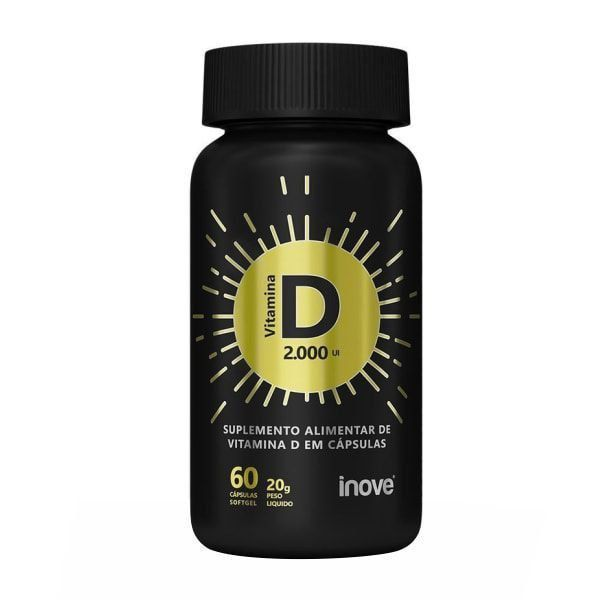 Vitamina D 2000 UI - 60 Softgels - Inove Nutrition