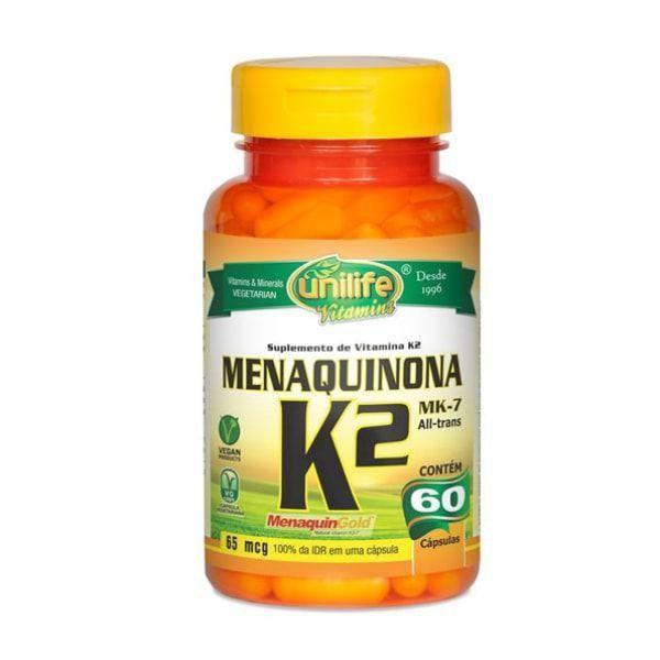 Vitamina K2 (Menaquinona) - 60 Cápsulas - Unilife