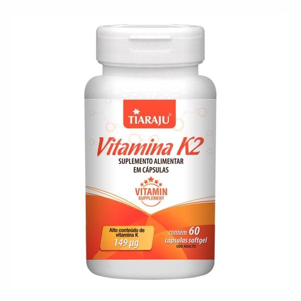 Vitamina K2 (Menaquiona) - 60 Cápsulas - Tiaraju