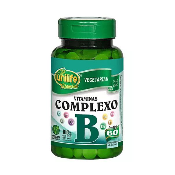 Vitaminas Complexo B - 60 Cápsulas - Unilife