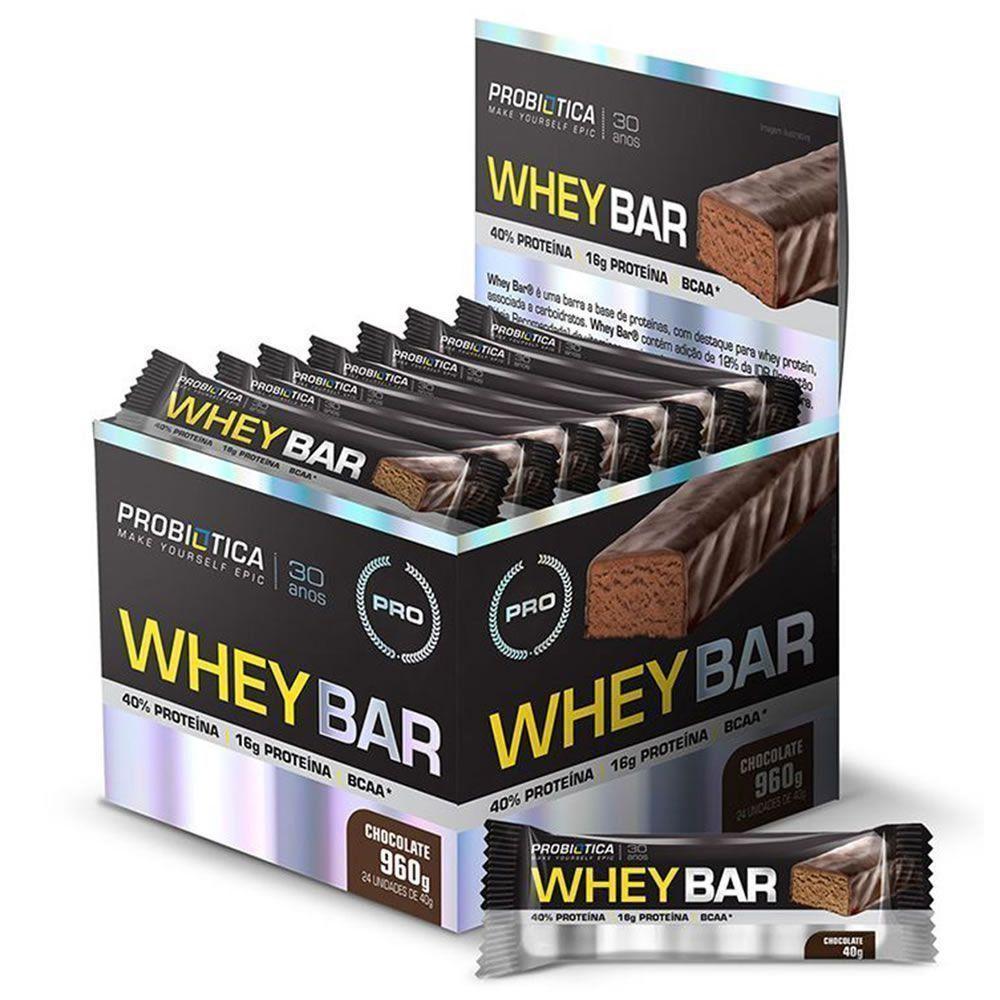 Whey Bar - 24 unidades (1cx.) - Probiótica