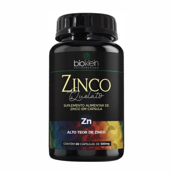 Zinco Quelato - 60 Cápsulas - Bioklein