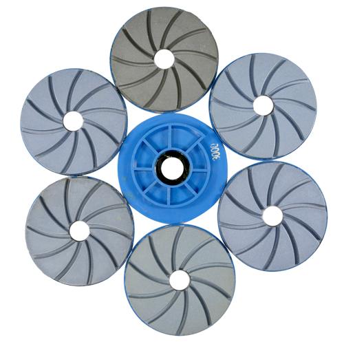Disco Para Polimento de Borda Reta Poliborda Colar 125mm  - COLAR