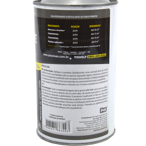 Pek Blecaute 1Litro - Impermeabilizante Intensificador de Revestimentos Escuros  - COLAR