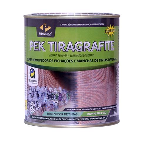 Pek Tiragrafite 1kg - Poderoso Removedor de Pichações, Manchas de Tintas e Marcas de Pneu  - COLAR
