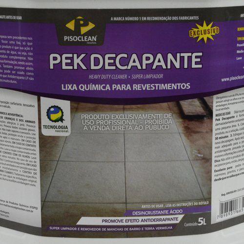 Pek Decapante 5 Litros - Limpador e Removedor de Manchas de Barro  - COLAR