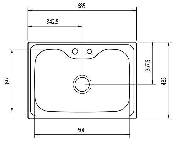 93806/102 Pia Morgana 60 FX 685x485x203mm - Tramontina  - COLAR