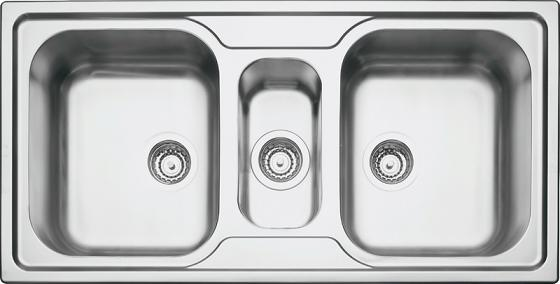 93830 Pia Dupla e Meia Marea 2,5C 34 1000x500x180mm - Tramontina  - COLAR