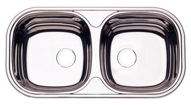 94032/206 Cuba Dupla Retangular Borda Sobrepor 780 x 398 x 145mm - Prime - Tramontina  - COLAR