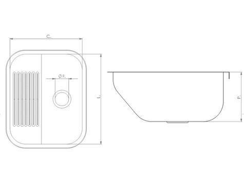 Tanque Tecnocuba De Aço Inox Encaixe 500x400x22  - COLAR