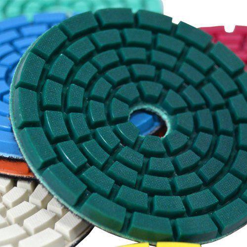 Disco de Polimento Semi-Flexível Para Mármores e Terrazzo Debex 100mm - Colar  - COLAR