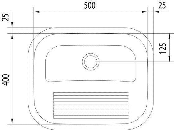 Tanque De Aço Inox Encaixe 500x400x22 - Tramontina  - COLAR