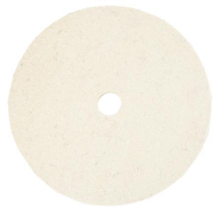 """Disco de Feltro Para Polimento 7"""" 178 x 8mm x 2,5cm (BEN Super Macio)  - COLAR"""