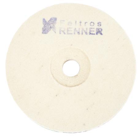 """Disco de Feltro Para Polimento 6"""" 150 x 20mm x 2,5cm (BRF Duro)  - COLAR"""