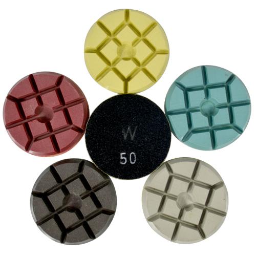 Disco de Polimento Rígido Para Concreto e Pedras Ornamentais Concrete-Wet 75mm - Colar  - COLAR