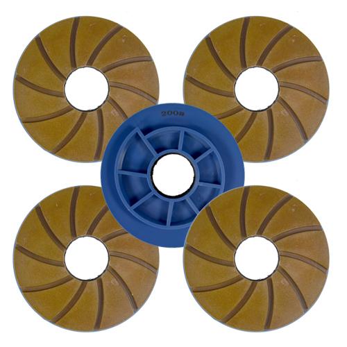 Disco Para Polimento de Borda Reta Poliborda Saint 125mm - Colar  - COLAR