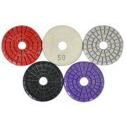 Disco de Polimento Rígido Para Mármores e Pedras Ornamentais Triple Trick 75mm - Colar