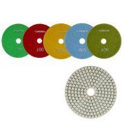 Disco de Polimento Flexível Para Silestone, Marmoglass e Nanoglass Gamma 100mm - Colar