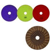 Disco de Desbaste Flexível  Colar Para Granitos e Silestone Cobre Resina 100mm