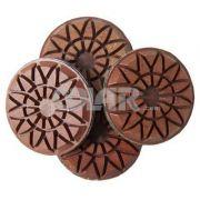 Disco de Desbaste Rígido Para Concreto, Granilite e Terrazzo Flower Metal 75mm - Colar
