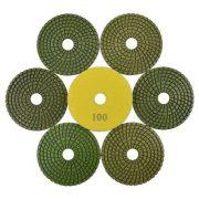 Disco de Polimento Flexível para Mármores e Granitos 100mm  - Colar