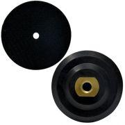 Suporte de Lixa 4 Polegadas (100mm) com Velcro - Borracha - Colar
