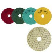Disco de Polimento Flexível Para Mármores, Granitos e Pedras Ornamentais Dry Flex 100mm - CH