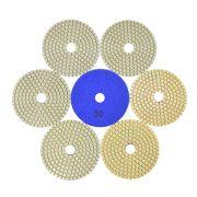 Disco de Polimento Flexível Para Mármores e Granitos Branco 100mm - Colar