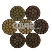 Disco de Polimento Rígido Para Concreto Spiral Concret 75mm - Colar